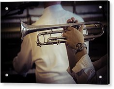 Jazz Trumpet New Orleans Acrylic Print by Garry Gay