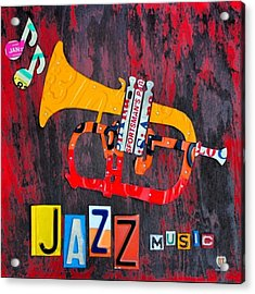 #jazz #trumpet #original #louisiana Acrylic Print