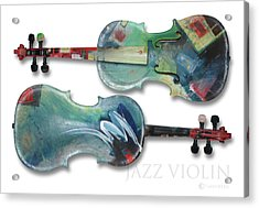 Jazz Violin - Poster Acrylic Print by Tim Nyberg