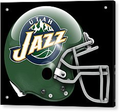 Jazz What If Its Football Acrylic Print