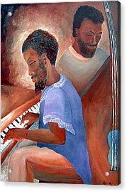 Jazzmen Acrylic Print by Alima Newton