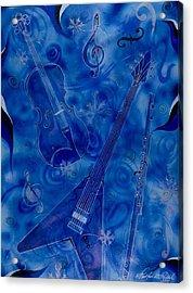 Jazzy And Icy Acrylic Print by Shellton Tremble