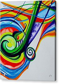 Jazzy Notes Acrylic Print by Erika Swartzkopf