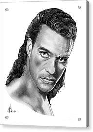Jean-claude Van Damme Acrylic Print by Murphy Elliott