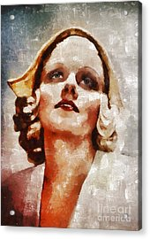 Jean Harlow By Mary Bassett Acrylic Print