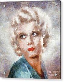Jean Harlow By Sarah Kirk Acrylic Print