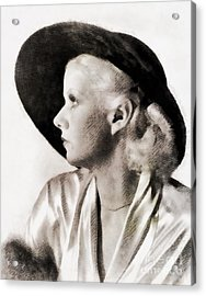 Jean Harlow, Vintage Actress Acrylic Print