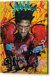 Acrylic Print featuring the painting Jean-michel Basquiat by Richard Day