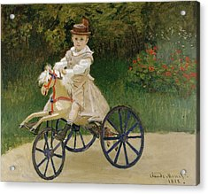 Acrylic Print featuring the painting Jean Monet On His Hobby Horse           by Claude Monet