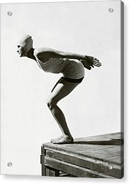 Jean Patou Swimwear Acrylic Print by George Hoyningen-Huene