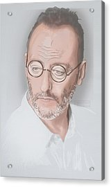 Acrylic Print featuring the mixed media Jean Reno by TortureLord Art