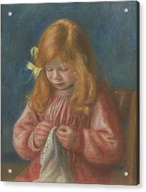Jean Renoir Sewing Acrylic Print