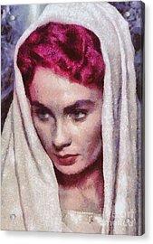 Jean Simmons, Vintage Hollywood Actress Acrylic Print