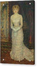Jeanne Samary Acrylic Print by Pierre Auguste Renoir