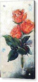 Jeannie's Roses Acrylic Print