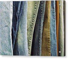 Jeans Acrylic Print by Anna Villarreal Garbis