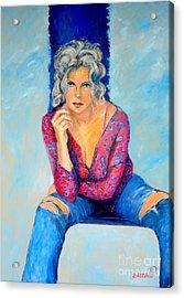 Jeans II Acrylic Print by Dagmar Helbig