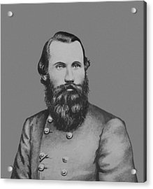 Jeb Stuart -- Confederate General Acrylic Print by War Is Hell Store