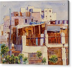 Jeddah Rooftops Acrylic Print by Dorothy Boyer