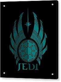 Jedi Symbol - Star Wars Art, Blue Acrylic Print