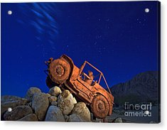Jeep Adventures Under The Night Sky In Borrego Springs Acrylic Print by Sam Antonio Photography