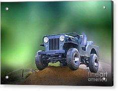Acrylic Print featuring the photograph Jeep by Charuhas Images