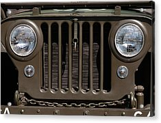 Jeep Grill Acrylic Print by Dan Holm