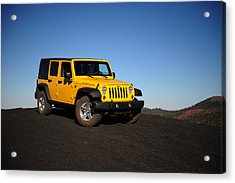 Jeep Rubicon In The Cinders Acrylic Print