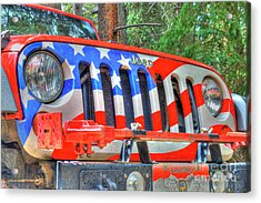 Jeep Usa Acrylic Print