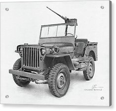 Jeep Willys Acrylic Print by Christopher Bracken