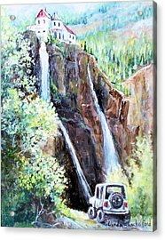 Jeeping At Bridal Falls  Acrylic Print