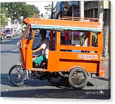Jeepney 01 Acrylic Print by Mike Holloway