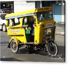 Jeepney 07 Acrylic Print by Mike Holloway