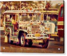 Jeepney Manila Acrylic Print