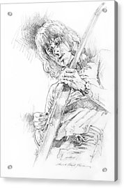 Jeff Beck - Truth Acrylic Print by David Lloyd Glover