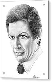 Jeff Goldblum Acrylic Print by Murphy Elliott