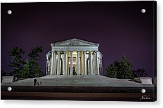 Jefferson At Night Acrylic Print