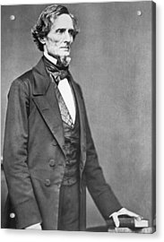Jefferson Davis Acrylic Print by American Photographer