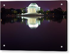 Jefferson Memorial Across The Pond At Night 4 Acrylic Print