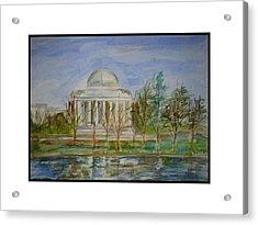 Jefferson Memorial Acrylic Print by Angela Puglisi