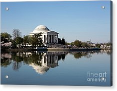 Jefferson Memorial Cherry Blossom Festival Acrylic Print