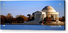 Jefferson Memorial Sunset Acrylic Print by Olivier Le Queinec