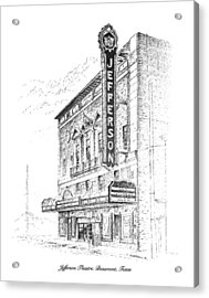 Jefferson Theatre Acrylic Print