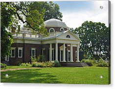 Jeffersons Monticello Acrylic Print by Bill Cannon