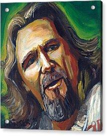 Jeffrey Lebowski The Dude Acrylic Print by Buffalo Bonker