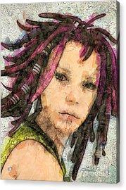 Jehanne Acrylic Print by Jutta Maria Pusl