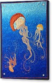 Jellies Of The Sea Acrylic Print