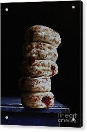 Jelly Donut Stack Acrylic Print by Larry Preston