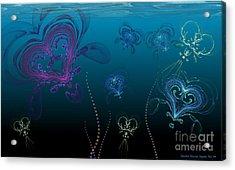 Jellyfish Love Acrylic Print by Sandra Bauser Digital Art