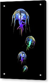 Jellys In Space Acrylic Print